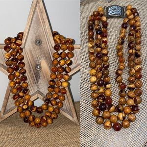 Vintage 3 Strand beaded Necklace